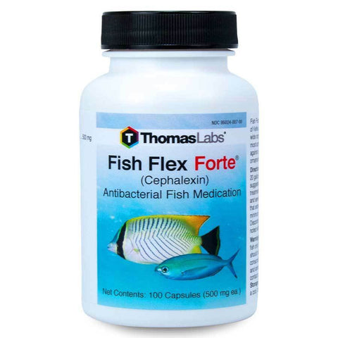 Fish Flex Forte 500mg Aquarium Bacteria Control 100 Count