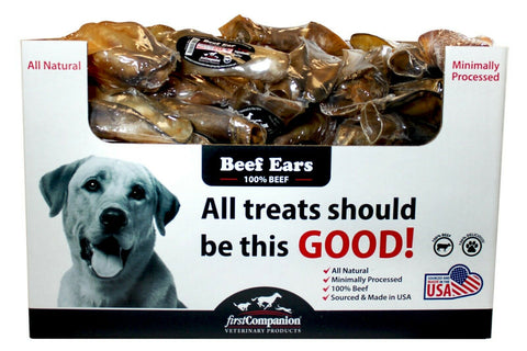 Cow Beef Ears - Made and Sourced in USA 100% Beef - 5 pack