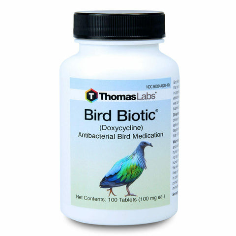 Bird Biotic 100 mg Doxy Tablets 100 Count Antibacterial