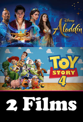 Toy Story 4 and Aladdin 2019 (googleplay)