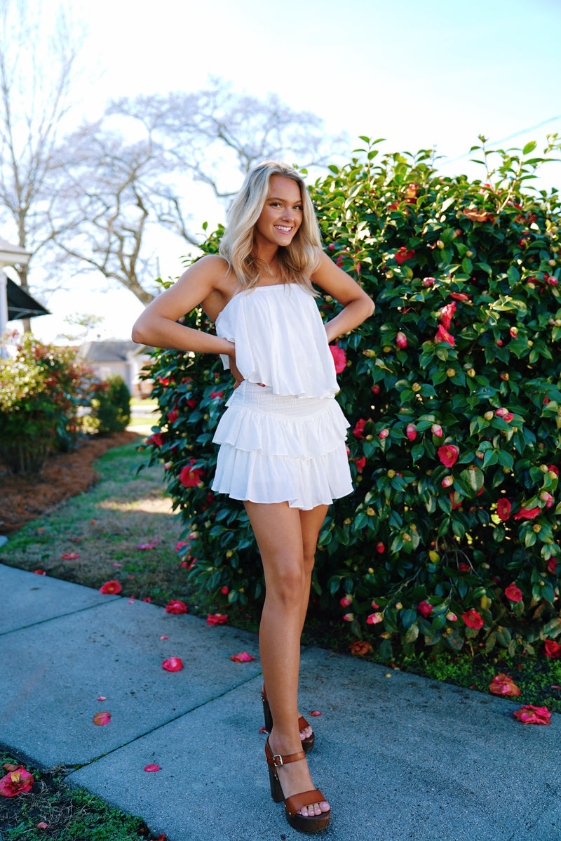 Beachy Babe Dress- White