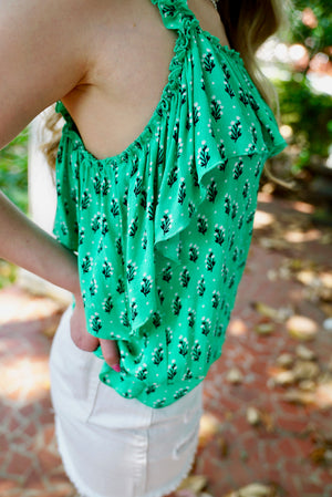 Rolling Hills Floral Tank