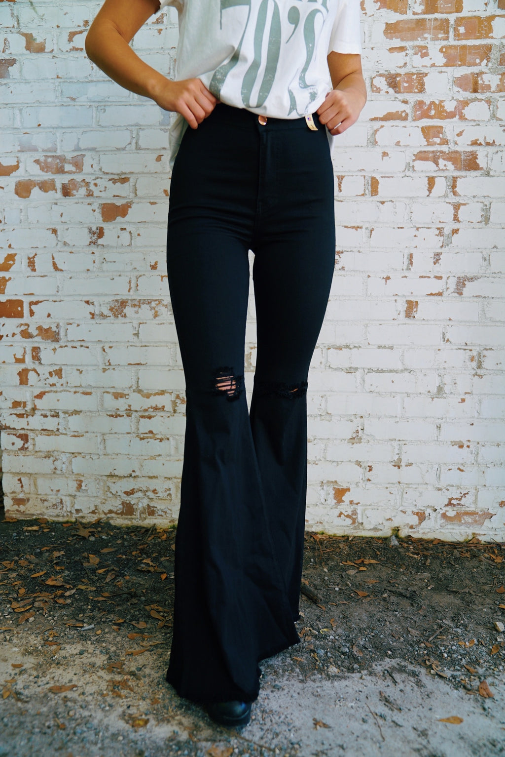 Friday Night Flares- Black
