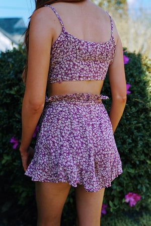 Dreaming of Vacay Set - Purple Floral