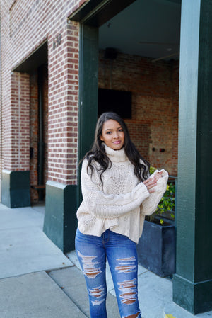 Falling For Fall Sweater - Cream