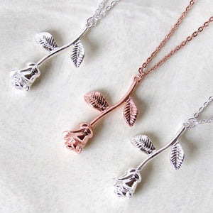 """Everlasting Love"" Rose Necklaces"