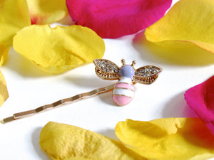 Pastel Bee Hairpins