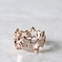 Load image into Gallery viewer, Rose Gold Twinkling Star Ring