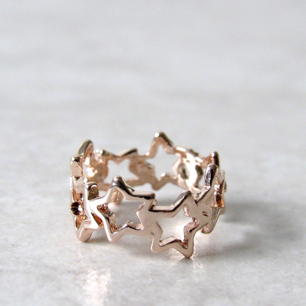 Rose Gold Twinkling Star Ring