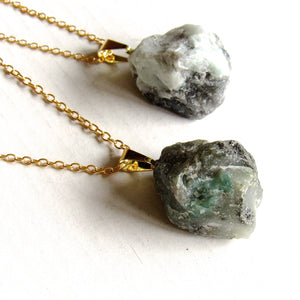 Green Emerald Stone Necklaces