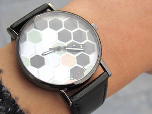 (On Sale!) Honeycomb Watch (7 Strap Colors Available)