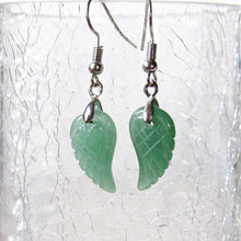 Load image into Gallery viewer, Mini Aventurine Angel Wing Earrings