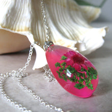 Load image into Gallery viewer, (On Sale!) Bubblegum Real Flower Necklaces