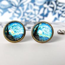"Load image into Gallery viewer, Van Gogh ""The Starry Night"" Earrings"