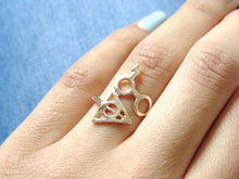 Load image into Gallery viewer, Rose Gold Harry Potter Deathly Hallows Rings