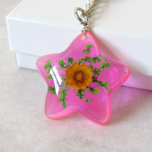 (On Sale!) Shooting Star Real Flower Necklaces