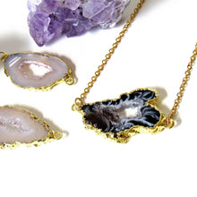 Load image into Gallery viewer, Gold Dipped Geode Slice Necklaces