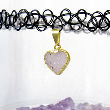 Load image into Gallery viewer, Snow Druzy Tattoo Choker