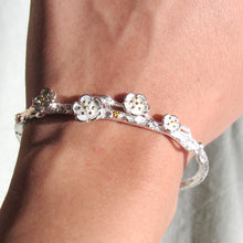 Load image into Gallery viewer, Silver Floral Branch Bangles