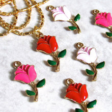 Load image into Gallery viewer, Dark Pink Rose Chokers
