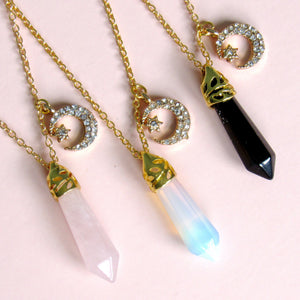 Shooting Star Crystal Necklaces (3 choices)