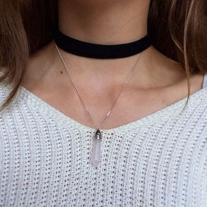 Silver Rose Quartz Necklaces