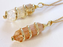 Load image into Gallery viewer, (New!) Gold Wrapped Citrine Necklaces