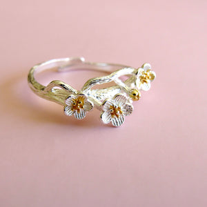 Sterling Silver Floral Branch Rings