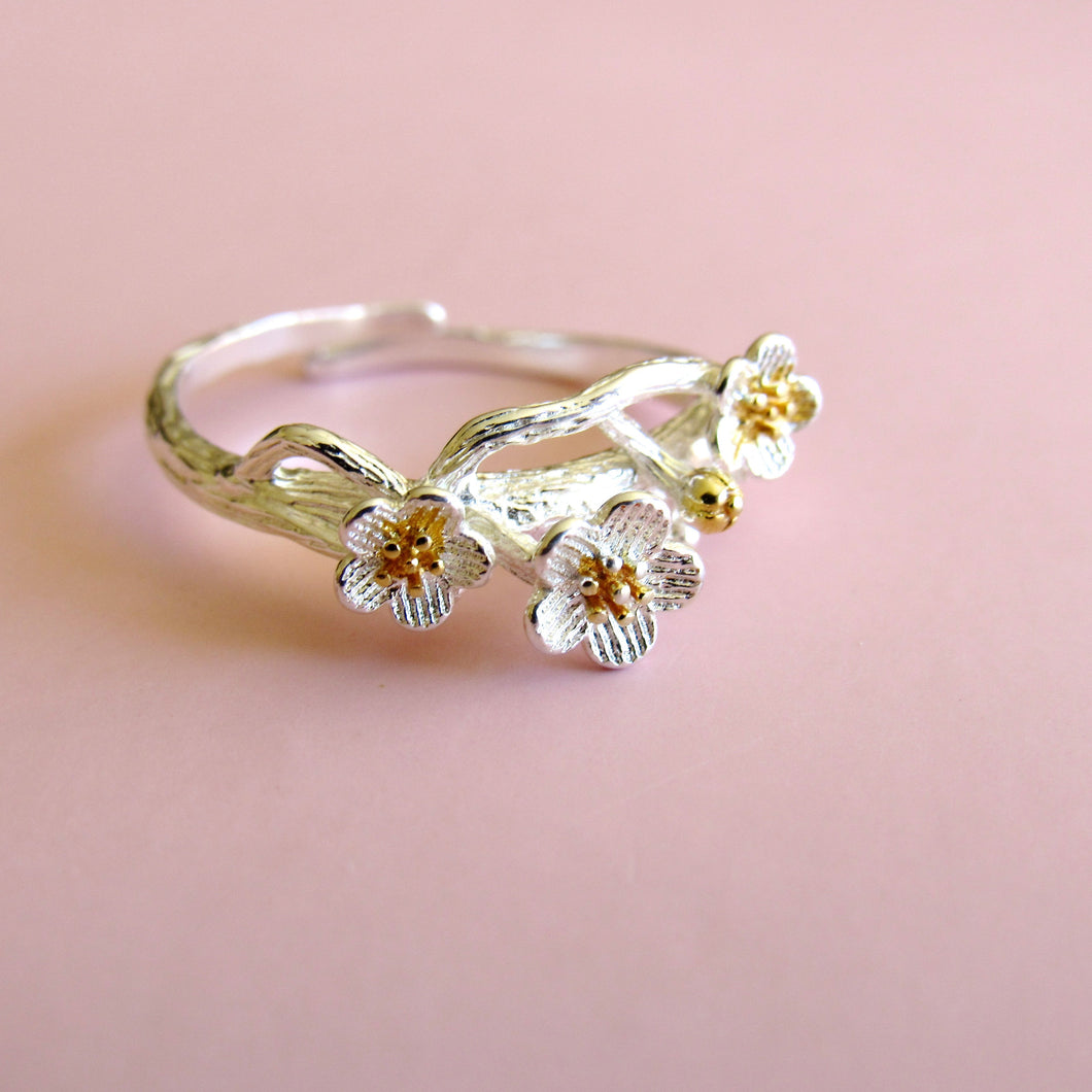 Sterling Silver Floral Branch Rings Kloica Accessories