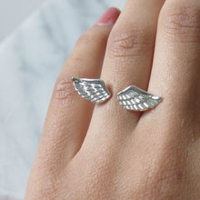 Load image into Gallery viewer, Silver Angel Wing Rings