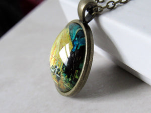 "Van Gogh ""The Cafe Terrace at Night"" Necklace"