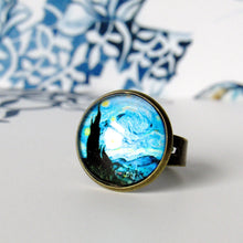 "Load image into Gallery viewer, Van Gogh ""The Starry Night"" Ring"