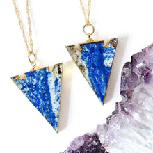 Load image into Gallery viewer, Lapis Lazuli Arrowhead Necklaces