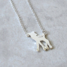 Load image into Gallery viewer, Silver Bambi Necklace