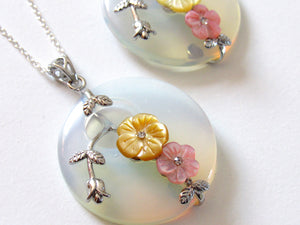 Blossoming Opalite Necklaces