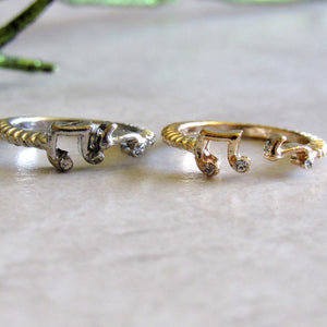 Music Note Ring Set (2 pieces)