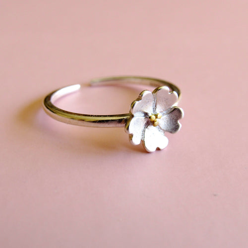 Sterling Silver Blossoming Flower Rings