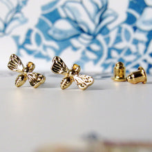 Load image into Gallery viewer, (On Sale!) Tiny Gold Female Bee Earrings