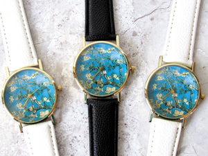 "Van Gogh ""Almond Blossoms"" Watch (White)"