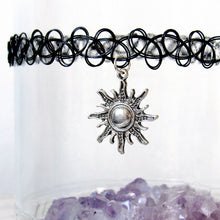 Load image into Gallery viewer, Glistening Sun Tattoo Choker
