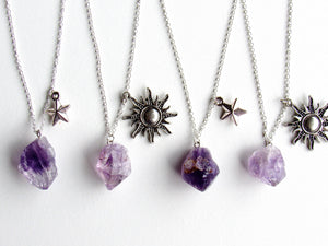 Skygazer Amethyst Necklaces (2 variations)