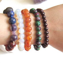 Load image into Gallery viewer, (New!) Ruby Zoisite Stone Bracelets