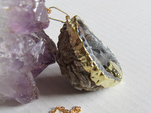 Oco Geode Quartz Point Necklaces