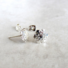 Load image into Gallery viewer, Silver Snowflake Earrings