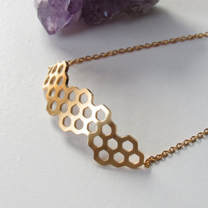 Honeycomb Bracelets (Gold or Silver)