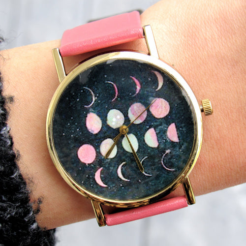 (On Sale!) Lunar Phases Watch (5 Strap Colors Available)
