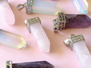 Silver Crowned Opalite Necklaces