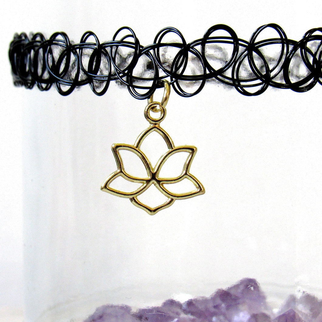 Lotus Tattoo Choker