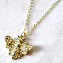 Load image into Gallery viewer, Golden Bee Necklaces