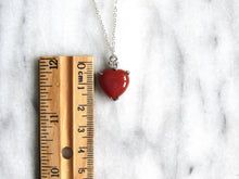 Load image into Gallery viewer, Twinkling Carnelian Agate Heart Necklaces